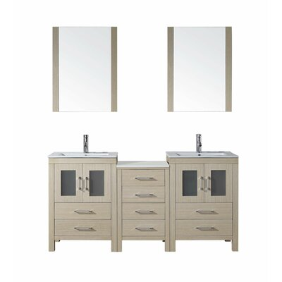 Virtu Dior 66 Double Bathroom Vanity Set Reviews Wayfair