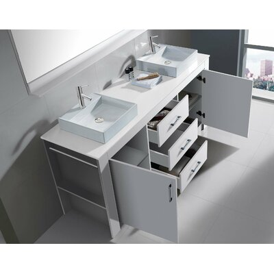 Virtu Tavian 60 Double Bathroom Vanity Set Cabinet Set