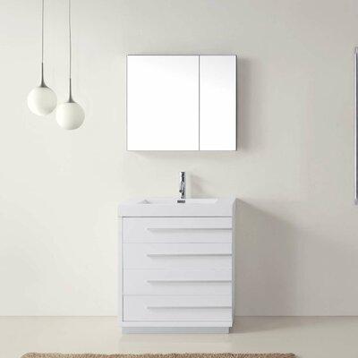 "Bailey 29"" Single Bathroom Vanity Set with Mirror Product Photo"