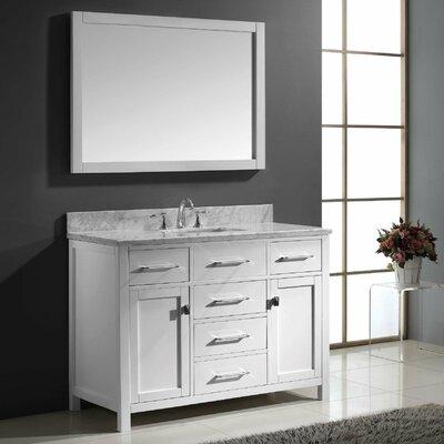 "Caroline 49"" Single Bathroom Vanity Set with Mirror Product Photo"