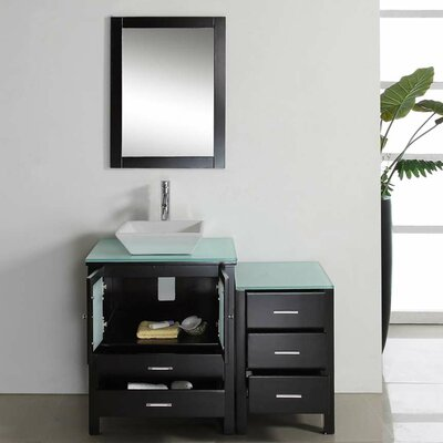"Virtu Brentford 45"" Single Bathroom Vanity Set with Mirror"