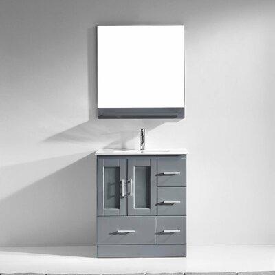 "Zola 30"" Single Bathroom Vanity Set with Mirror Product Photo"
