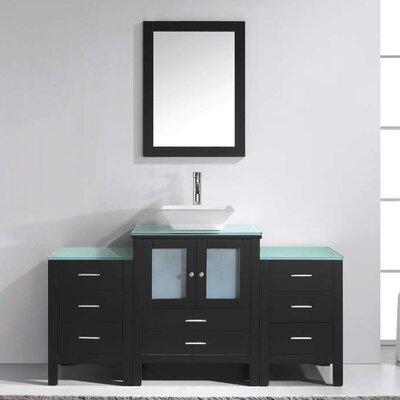 """Virtu Brentford 63"""" Single Bathroom Vanity Set with Mirror"""