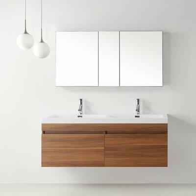 "Zuri 55"" Floating Double Bathroom Vanity Set Product Photo"