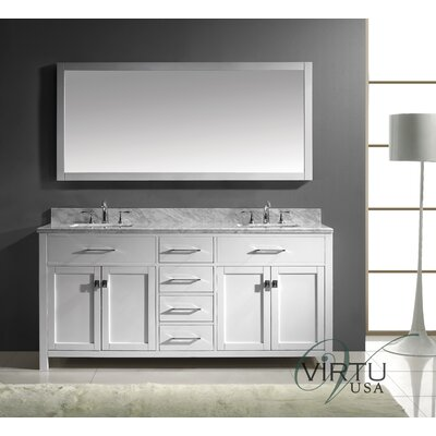 "Caroline 73"" Double Bathroom Vanity Set with Mirror Product Photo"