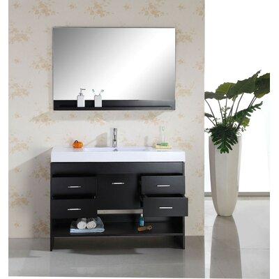 "Gloria 47"" Single Bathroom Vanity Set with Mirror Product Photo"