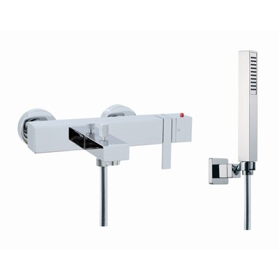 Fima by Nameeks Brick Chic Wall Mount Thermostatic Tub Faucet with Hand Shower