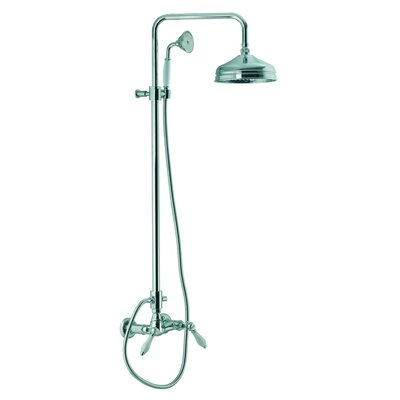 Fima by Nameeks Herend Wall Mount Thermostatic Shower Faucet with Rain Shower Head and Hand Shower