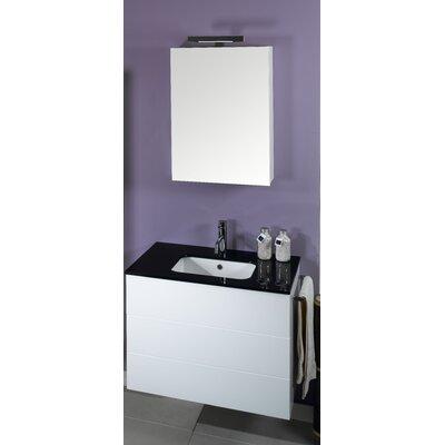 "Iotti by Nameeks Time 32"" Single Wall Mounted Bathroom Vanity Set with Mirror"