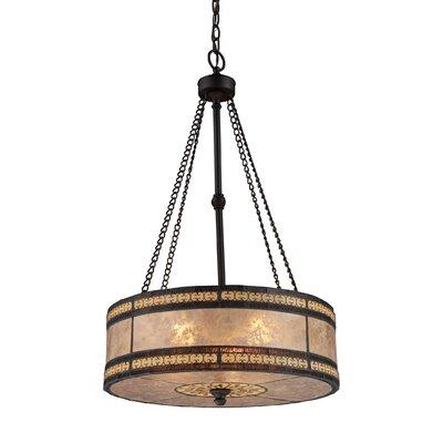 Landmark Lighting Mica Filigree 3 Light Drum Pendant