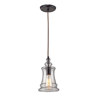 Menlow Park 1 Light Pendant with Clear Blown Glass Product Photo