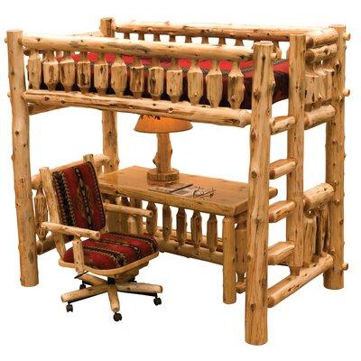 Cedar Single Loft Bed with Left Ladder by Fireside Lodge