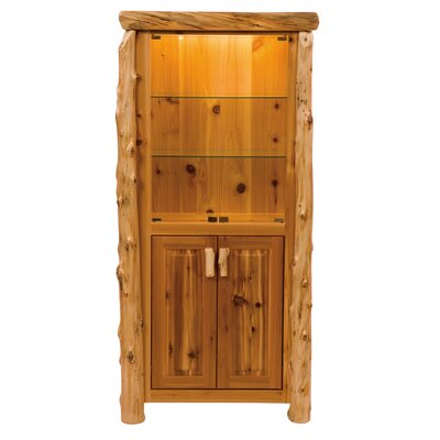 Traditional Cedar Log China Cabinet by Fireside Lodge