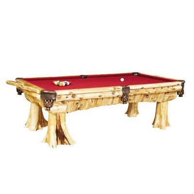 Fireside Lodge Traditional Cedar Log 8' Pool Table