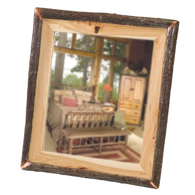 Fireside Lodge Hickory Log Wall Mirror