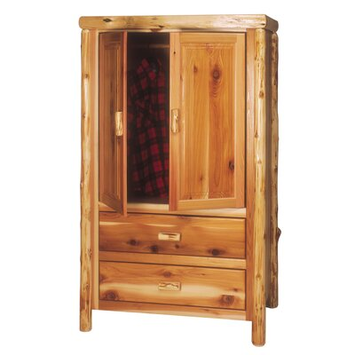 Traditional Cedar Log Armoire Product Photo