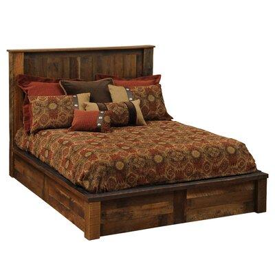 Barnwood Traditional Platform Bed by Fireside Lodge
