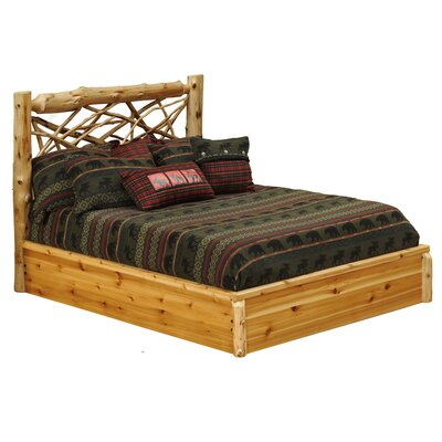 Cedar Twig Platform Bed by Fireside Lodge