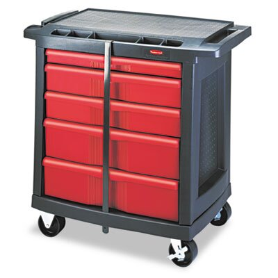 Rubbermaid Commercial 5 Drawer Mobile Storage Container