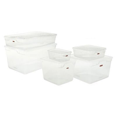 Rubbermaid 1.625 Gallon Clever Store Snap-Lid Container in Clear
