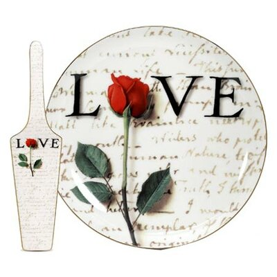 PS Collection Love Letters Server and Cake Stand