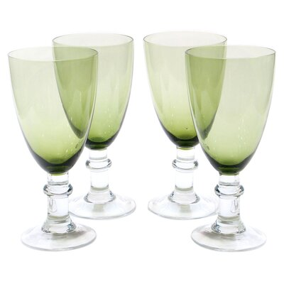 Glass Stemware Olive Green All Purpose Goblets (Set of 4) by Certified International
