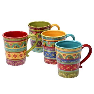 Certified International Tunisian Sunset 4 Piece Mug Set