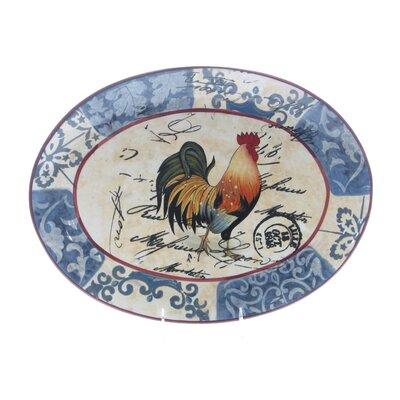 Certified International Lille Rooster by Geoffrey Allen Platter