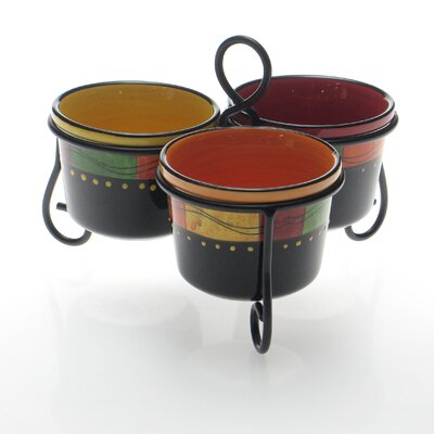 Certified International Caliente by Joy Hall Condiment Server