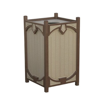 22-Gal Trash Receptacle with Pavilion Pattern by Eagle One