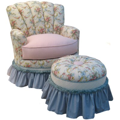 Blossoms and Bows Adult Princess Glider Rocker and Ottoman by Angel Song