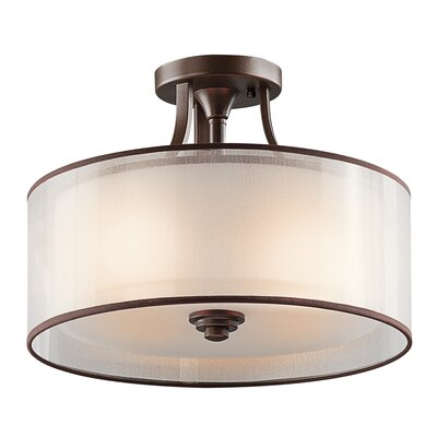 Lacey 3 Light Semi Flush Mount Product Photo
