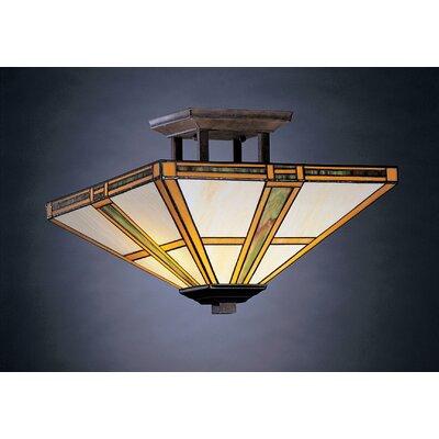 Kichler Oak Park 2 Light Semi Flush Mount