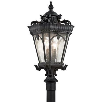 """Kichler Tournai 4 Light 14"""" Outdoor Post Lantern"""