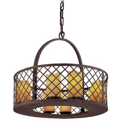 Sienna 8 Light Small Foyer Pendant by Troy Lighting