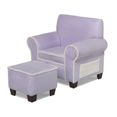 Club Chair and Ottoman in Lavender by Hannah Baby