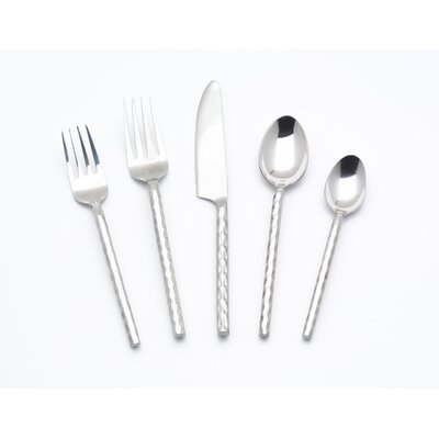 5 Piece Hammered Flatware Set by William Sheppee