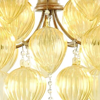 Corbett Lighting Venetian 6 Light Chandelier with Glass