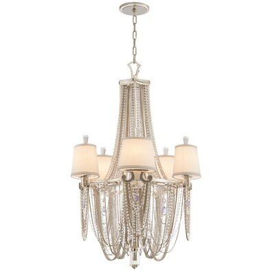 Flirt 5 Light Crystal Chandelier by Corbett Lighting