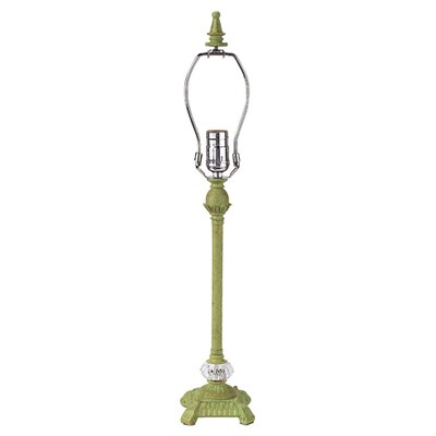 """Jubilee Collection Scroll Glass Ball 23.5"""" H Table Lamp with Bell Shade"""