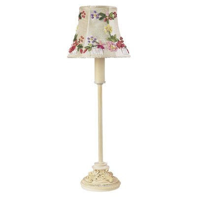 """Jubilee Collection Leaf Scroll 14"""" H Table Lamp with Bell Shade"""