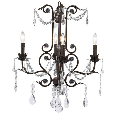 Valentino 4 Light Chandelier by Jubilee Collection