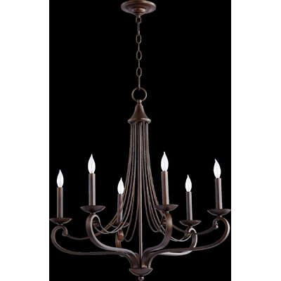 Lariat 6 Light Candle Chandelier Product Photo