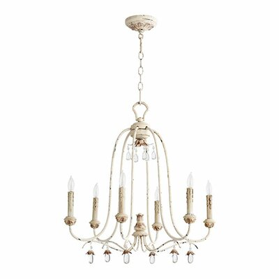 Venice 6 Light Candle Chandelier Product Photo