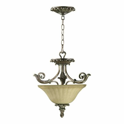 Barcelona 2 Light Convertible Inverted Pendant by Quorum