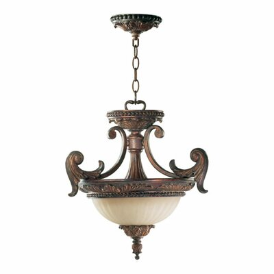 Madeleine 2 Light Convertible Inverted Pendant by Quorum