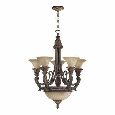 Madeleine 8 Light Bowl Chandelier by Quorum