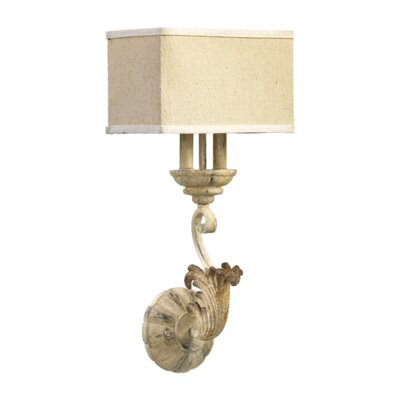 Quorum Florence 2 Light Wall Sconce with Shade