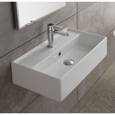 Teorema Ceramic Wall Mounted Vessel Bathroom Sink Product Photo