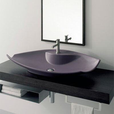 Kong Above Counter Single Hole Bathroom Sink by Scarabeo by Nameeks